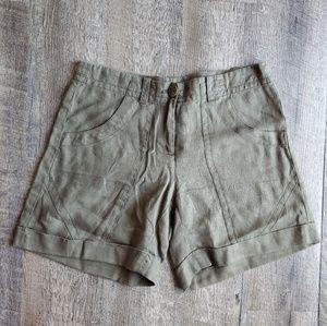 Isda & Co Nordstrom 100% Linen Shorts   4